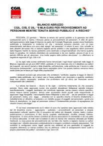 Bilancio Abruzzo - 8 milioni di euro per provvedimenti ad personam.