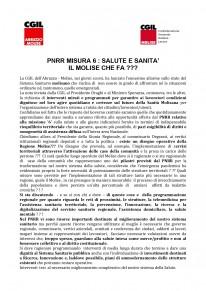PNRR MISURA 6 : SALUTE E SANITA' IL MOLISE CHE FA ???
